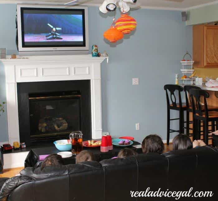 kids watching Big Hero 6