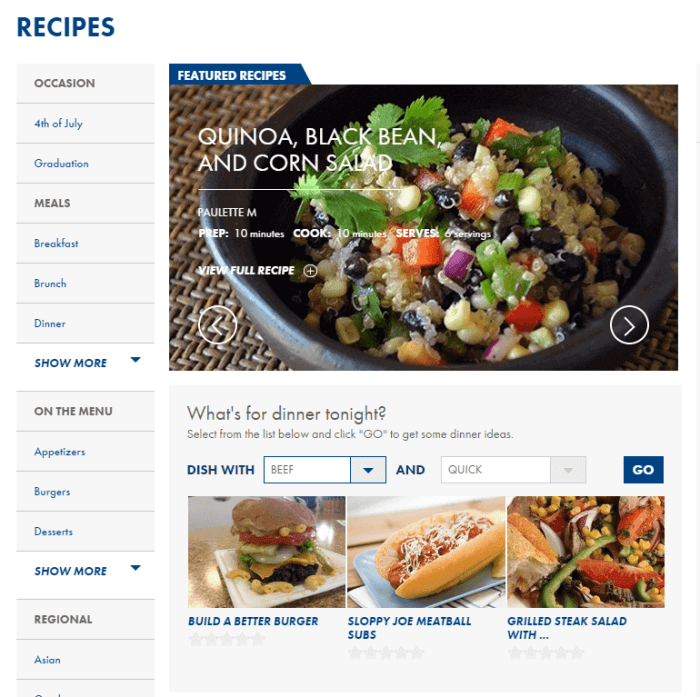 Food Lion Recipe Finder