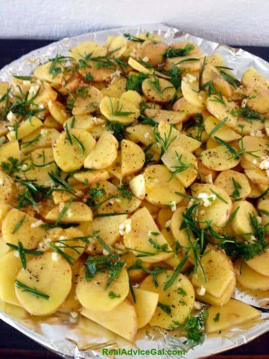 Oven Roasted Potatoes with Rosemary & Thyme In-Process #1