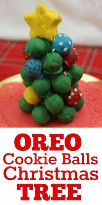Oreo Cookie Balls Christmas Tree makes a beautiful edible centerpiece