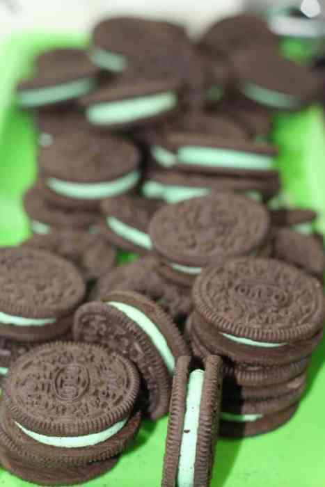 Oreo Cookie Balls start with 36 oreos