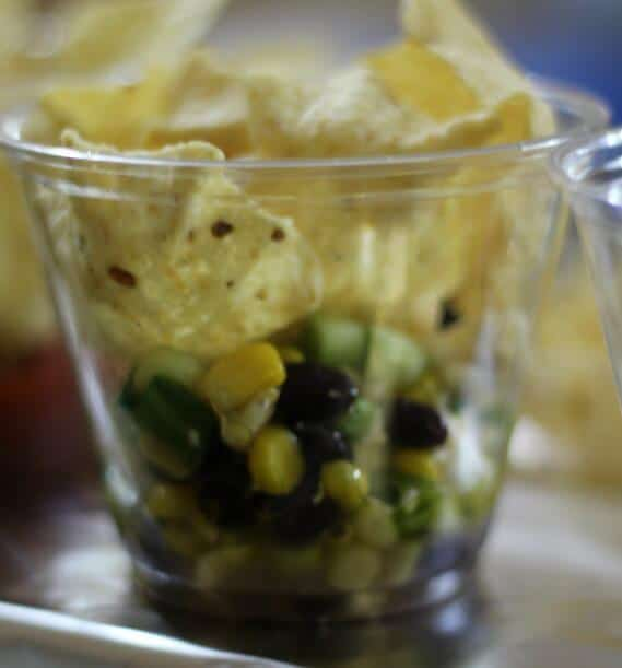 Ugly dip served with scoops. This is perfect for parties.