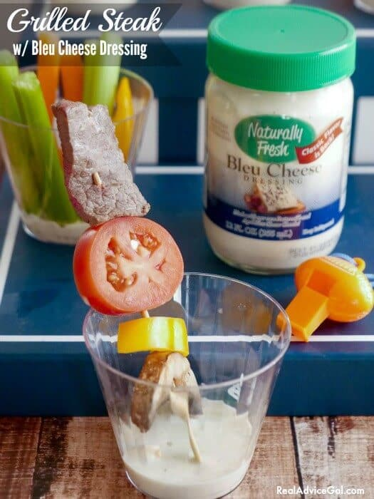 Grilled steak recipe with bleu cheese dressing