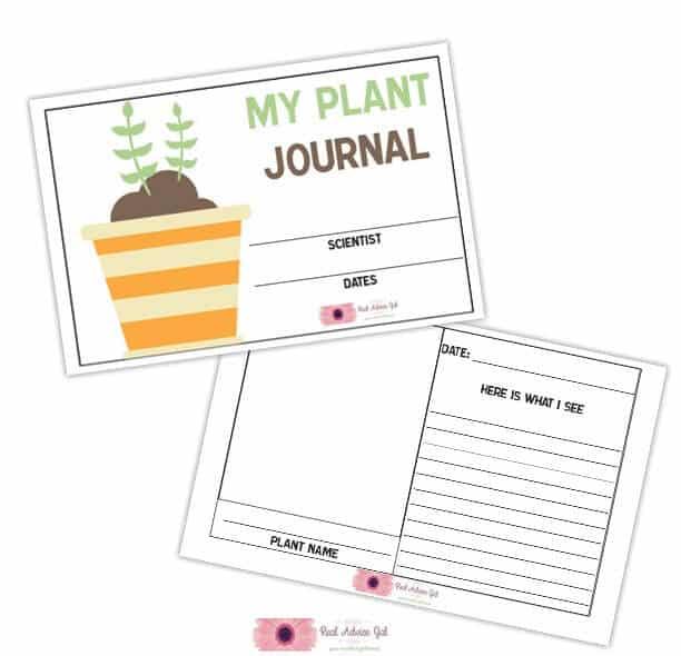 Free printable gardening journal for kids