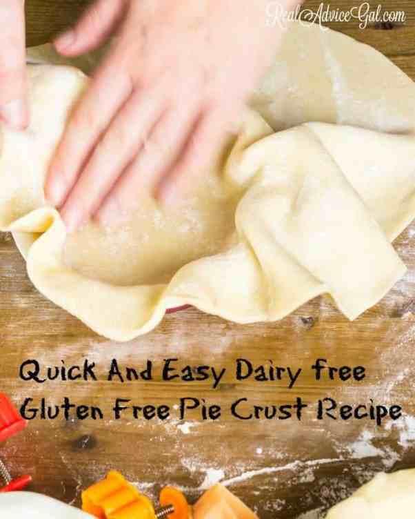 Dairy free Gluten Free Pie Crust Recipe