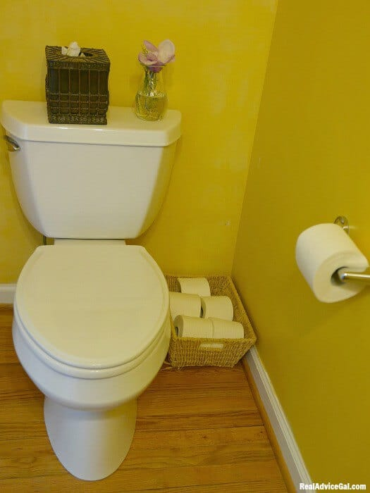 Spring cleaning bathroom