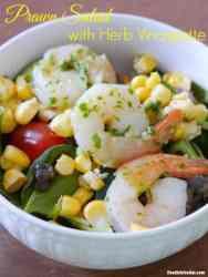 Healthy Prawn Salad Recipe with Herb Vinaigrette
