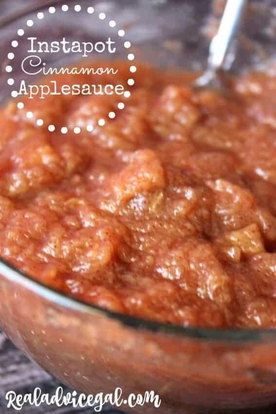 Instapot cinnamon applesauce