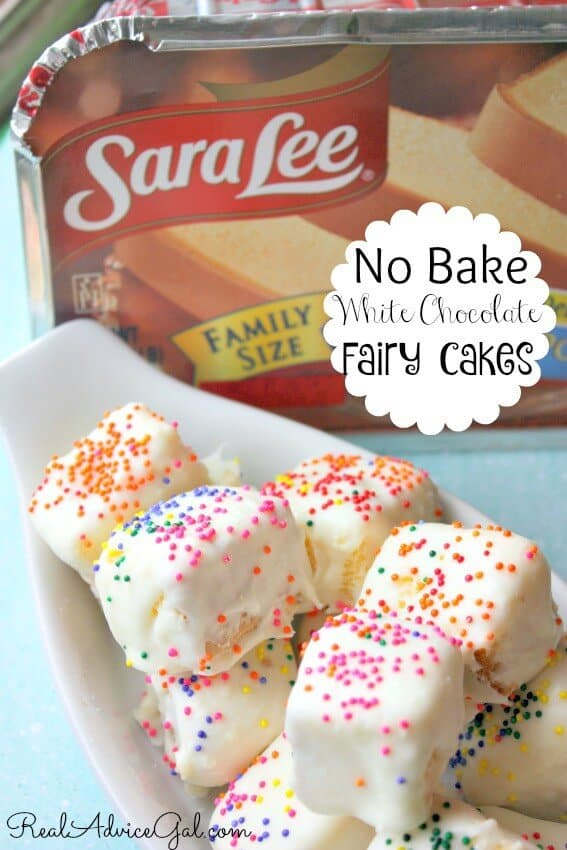 A no bake white chocolate fairy cakes recipe that's perfect for fairy party.