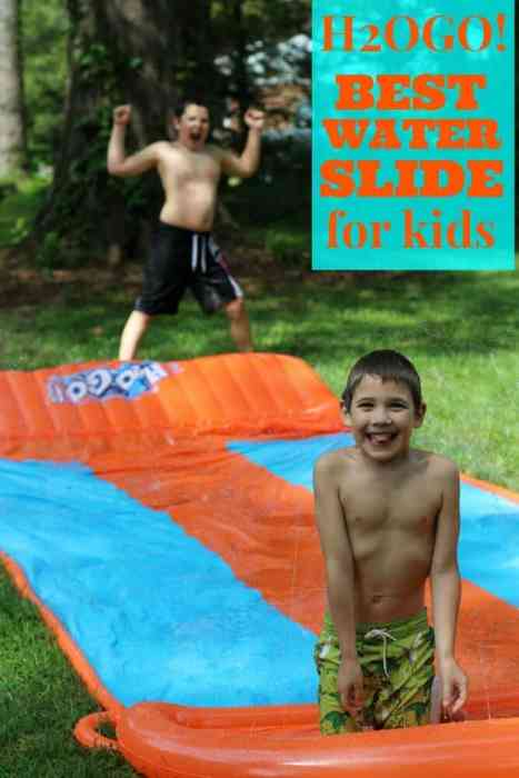 The H2OGO! is the best water slide for kids. Nothing is better on a hot day than a cold fast ride on the water slide.