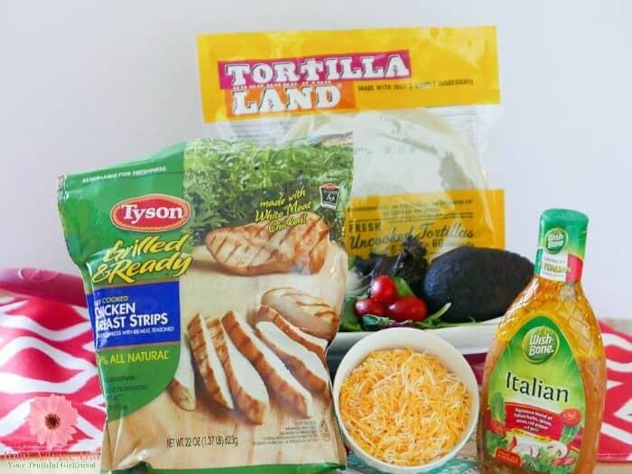 Italian Chicken Wrap Ingredients