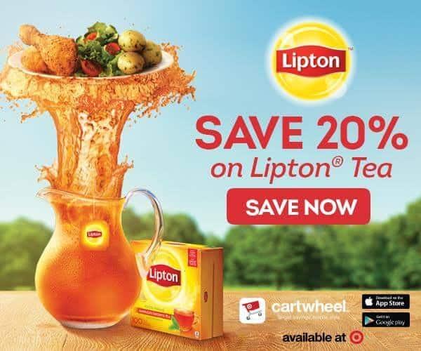 Save 20% Lipton Tea Cartwheel App