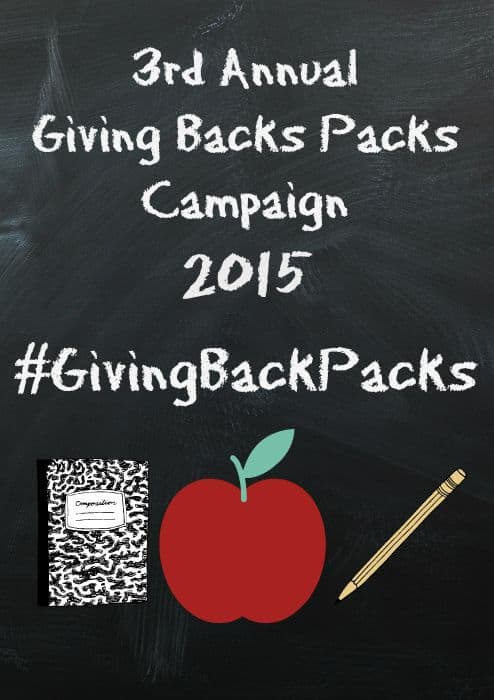 Giving Back Packs Campaign 2015