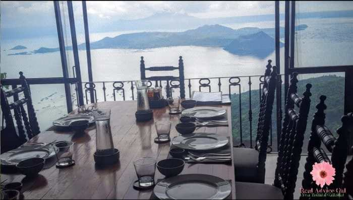 Table setting with a view