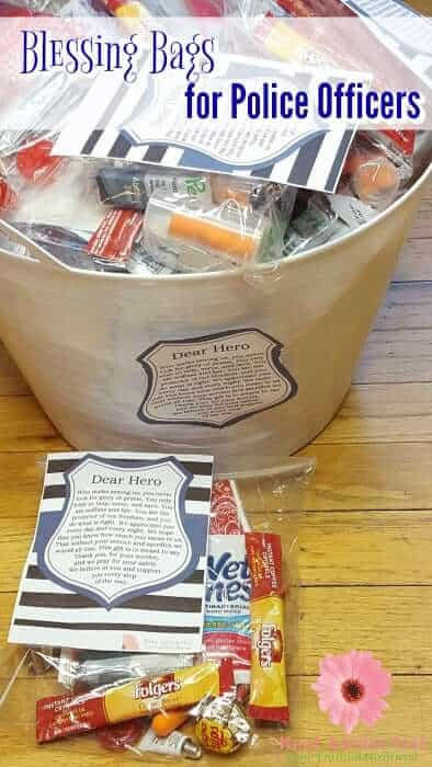 Blessing Bags for Police Officers with Dear Hero printable poem.
