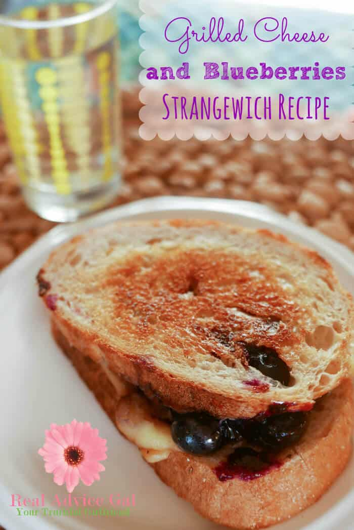 Try something strange for dinner that for sure kids will love. Check out this Hellmanns Grilled Cheese and Blueberries Strangewich Recipe