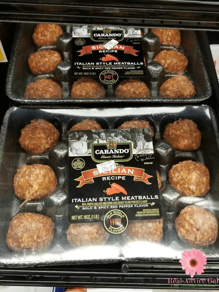 Carando Italian style meatballs can turn your simple dish into gourmet dish.