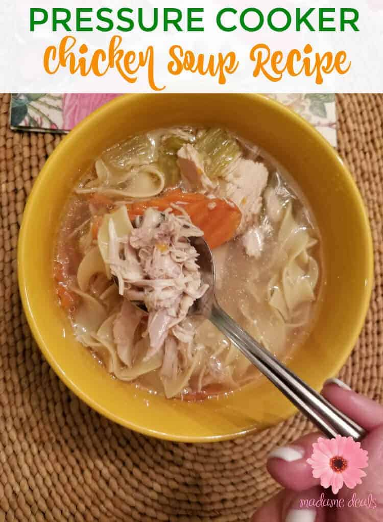 This chicken soup is the best comfort food whenever you're feeling under the weather. Try my power pressure cooker chicken soup recipe with whole chicken.