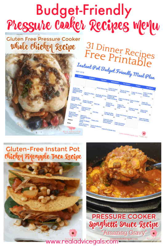 Save time and money by planning your meals and using your pressure cooker daily. We have 31 cheap pressure cooker recipes that are tasty and quick to prepare. These cheap dinner ideas are perfect for the whole family. We also have gluten free dairy free and egg free recipes.