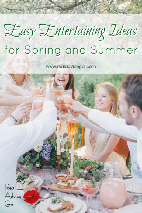 Get ready for fun gatherings with friends and family. Check out these easy entertaining ideas for spring and summer.