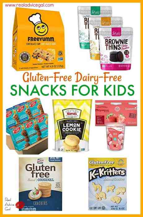Delicious gluten-free dairy-free snacks that kids will love.