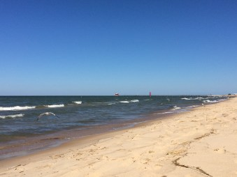 The Beach on Lake Michigan in Grand Haven, MI