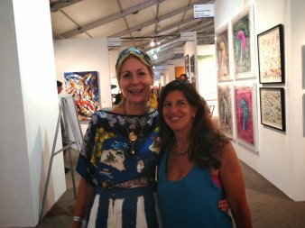 Rebecca, owner of Rebecca Hossack Art Gallery at Art Hamptons.