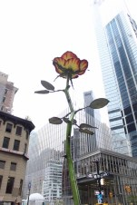 "The newly unveiled ""Rose III"" by Isa Genzken at Zuccotti Park"