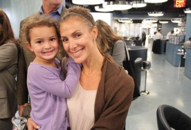Lindsay Ornstein of Transwestern poses with her daughter.