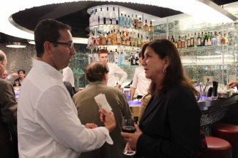 (left to right) Jack Resnick & Sons' Adam S. Rappaport chats with Stacey Kelz of Stacey-Robins Realty Group.