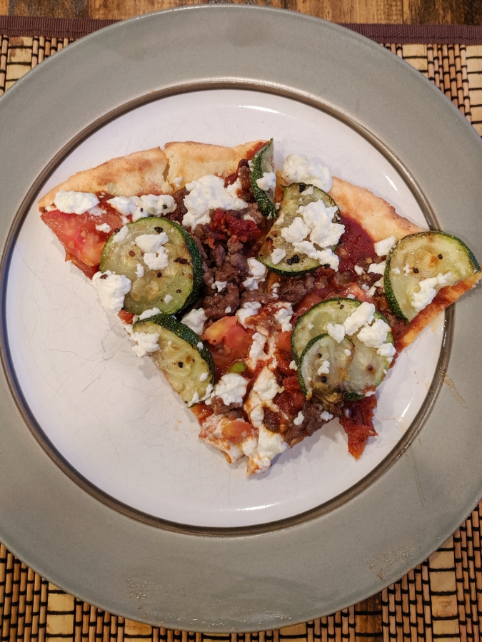 lamb and goat cheese pizza | Realationship Project