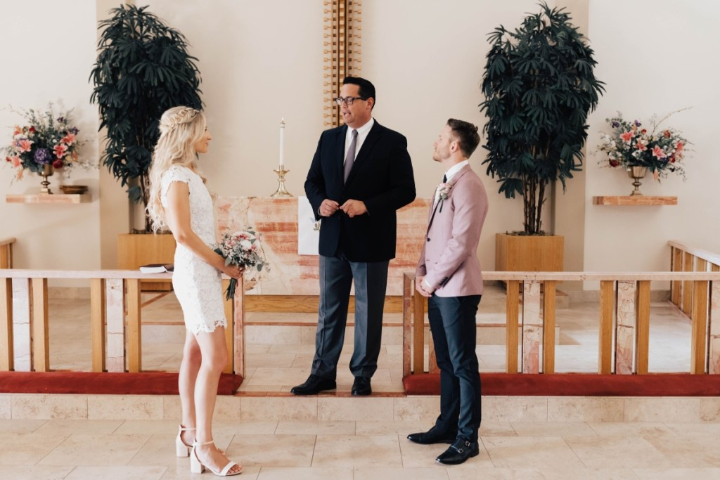 Darcie and Logan Legal Ceremony St. Paul's San Diego