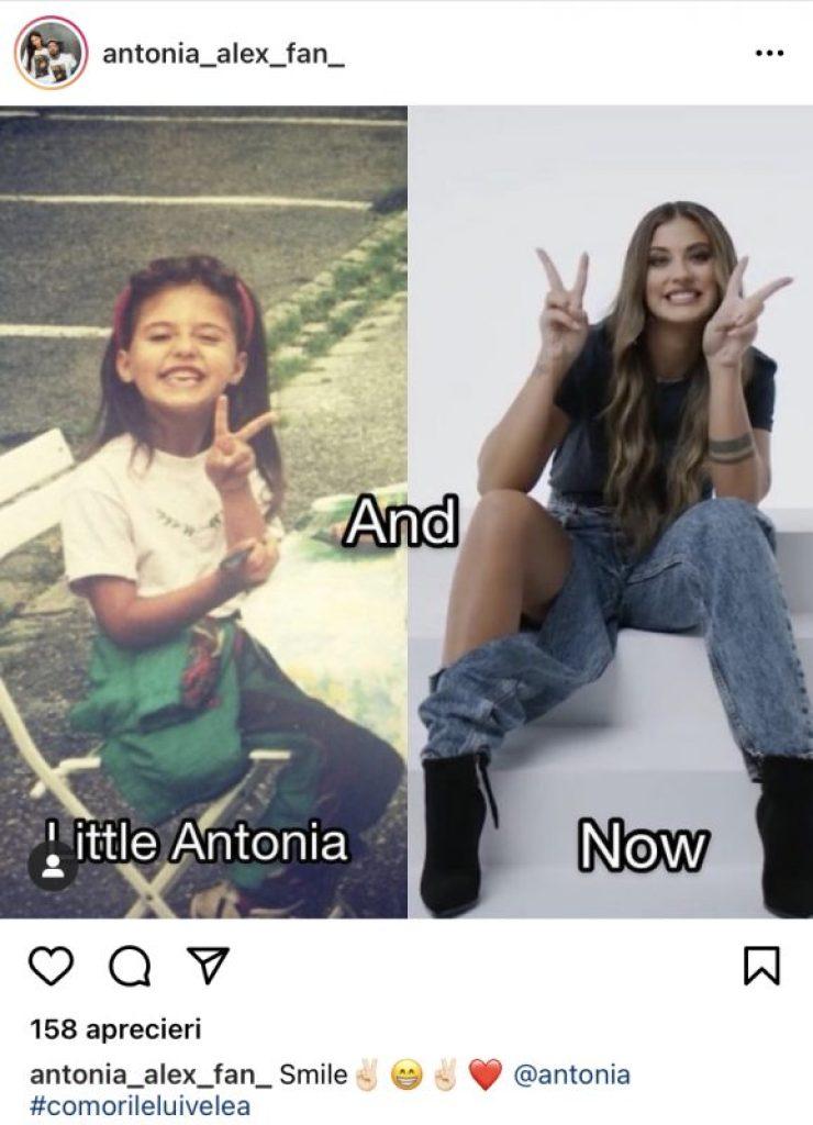 Imagine rară cu Antonia când era doar o fetiță. Fanii nu o recunosc în această fotografie