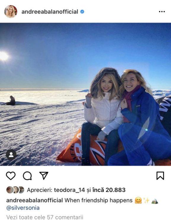 Unde-și petrece vacanța Andreea Bălan. Detaliul care demonstrează că se odihnesc împreună cu Tiberiu Argint