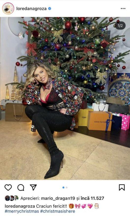 Ce cadouri a primit Loredana Groza în seara de Crăciun? Artista a luat cele mai luxoase daruri de la Moș Crăciun