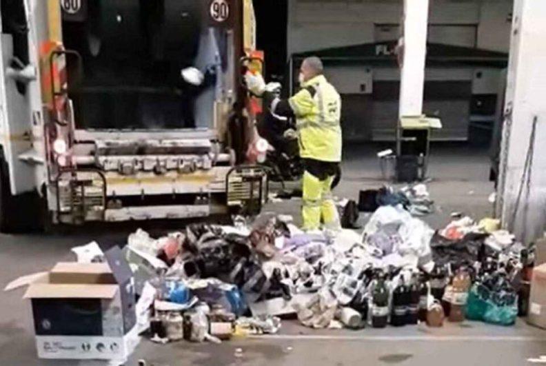 (VIDEO) Atenție, români! Scandal la vama Nisa din Franța. O mulțime de colete pline de băuturi și mâncare venite din România au fost aruncate de poliție