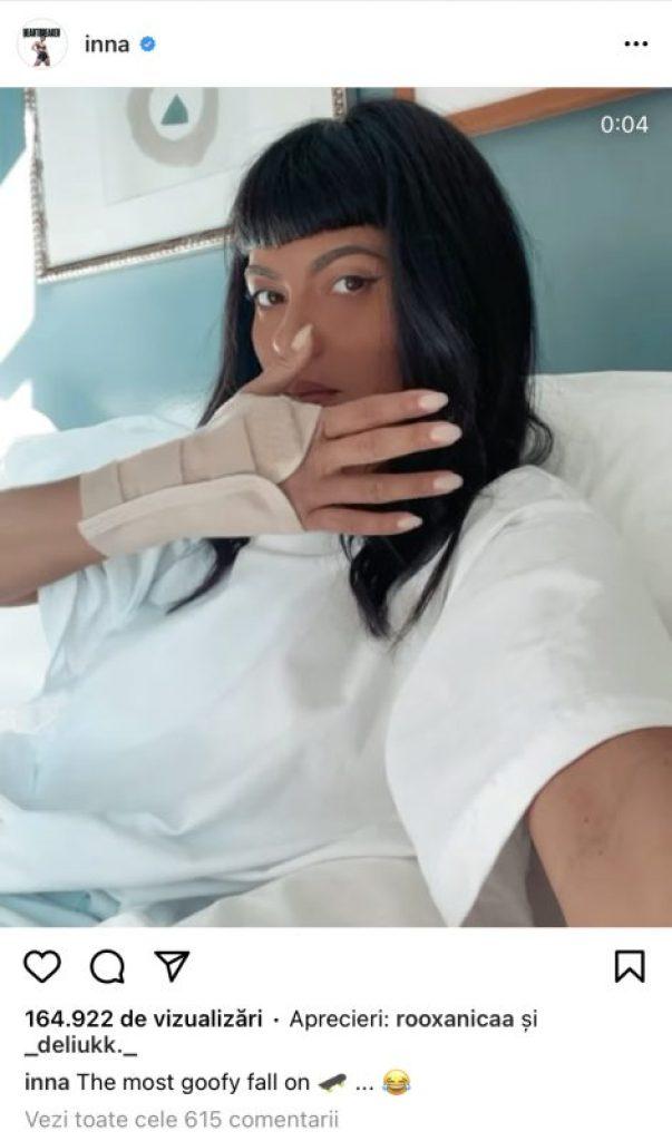(FOTO) INNA a publicat imagini de pe patul de spital! Cântăreața a avut de suferit într-un accident. Cum se simte chiar acum?