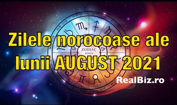 Zilele norocoase pentru luna AUGUST 2021. Astrologii scot la iveală cele mai norocoase zile ale lunii august la dragoste, bani și carieră pentru fiecare zodie împarte