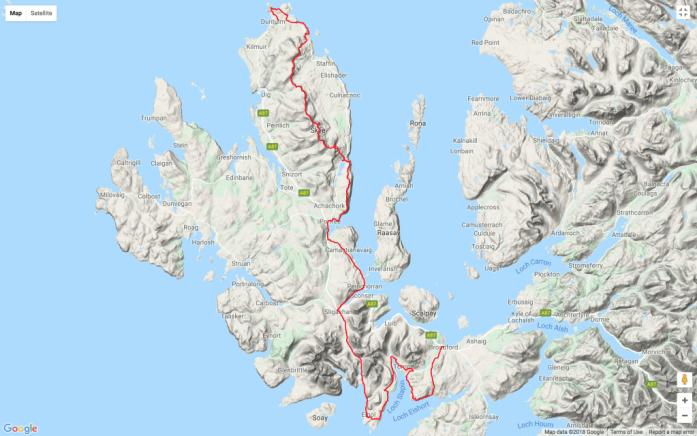 Isle of Skye Trail mapa
