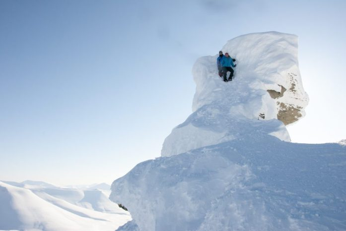 Špicberky: Zasněžený vrcholek Trollsteinen