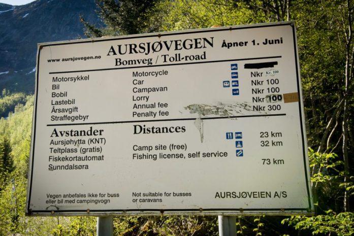 Zpoplatněné soukromé silnice v Norsku