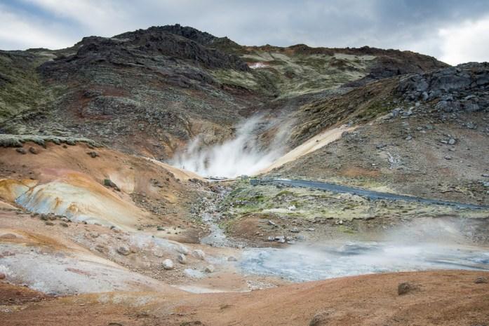 Islandský cestopis geotermální oblast krysuvik Seltun