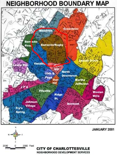 Charlottesville Neighborhoods Barracksroad