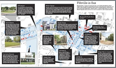Map of Fifeville in Charlottesville