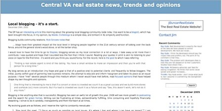 December 2005 - Central Virginia real estate blog