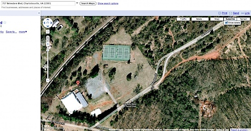 Google map of Fairview Swim Club in Charlottesville