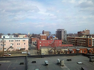 View from the 5th Floor of the Gleason building in Downtown Charlottesville