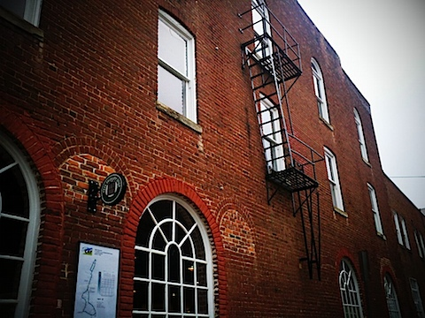 The only fire escape on the Downtown Mall?