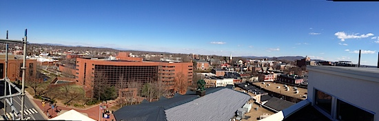 Downtown Charlottesville from the Waterhouse Condos