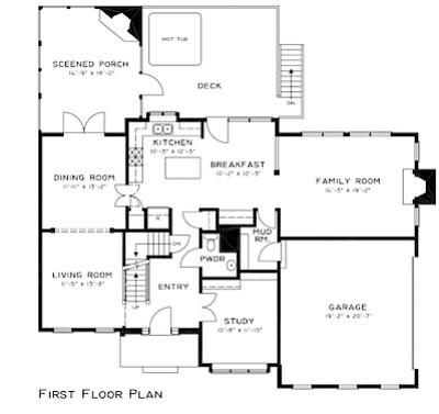 4949 Lake Tree Ln First Floor Plan